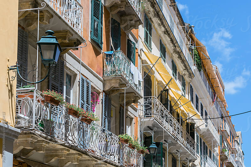 Dilapidated flats in Corfu old town, Greece. by Paul Phillips for Stocksy United