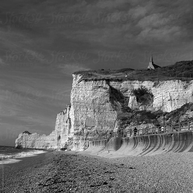 Famous beach and cliffs of Etretat by Marcel for Stocksy United