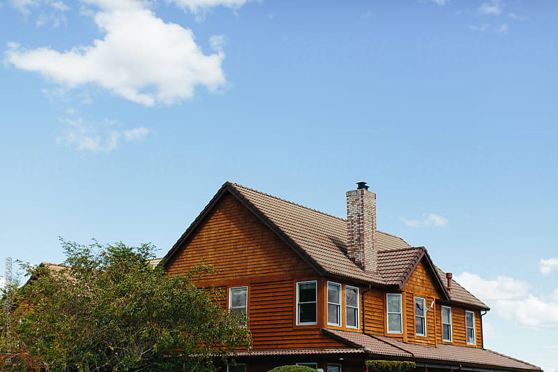 Beautiful Home with Blue Sky by B. Harvey for Stocksy United