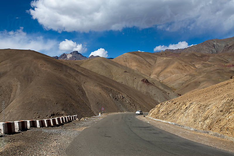 Highway with wonderful landscape of Ladakh by PARTHA PAL for Stocksy United