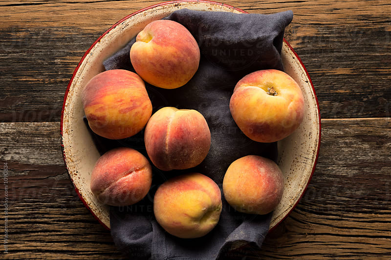 Fresh Peaches in Bowl by Jeff Wasserman for Stocksy United