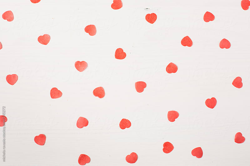 Small paper hearts by michela ravasio for Stocksy United