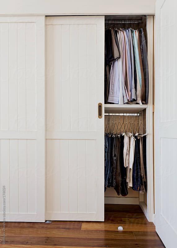 White wooden wardrobe by Borislav Zhuykov for Stocksy United