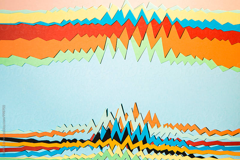 Abstract colorful cardboard charts by Beatrix Boros for Stocksy United