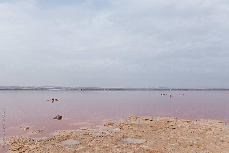 Natural Pink Lake of Torrevieja, Alicante, Spain by Preappy for Stocksy United