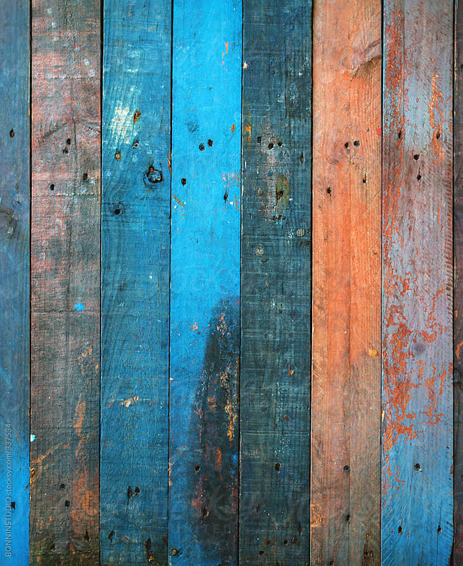 Old colorful pallet background. by BONNINSTUDIO - Stocksy ...