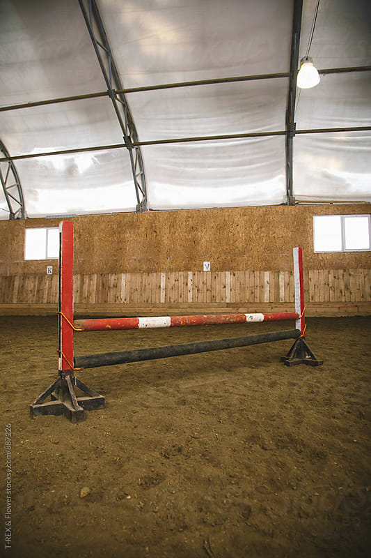 Painted shabby hurdle for horses by Danil Nevsky for Stocksy United