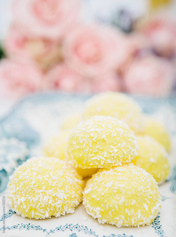 Yellow cakes. by kkgas for Stocksy United