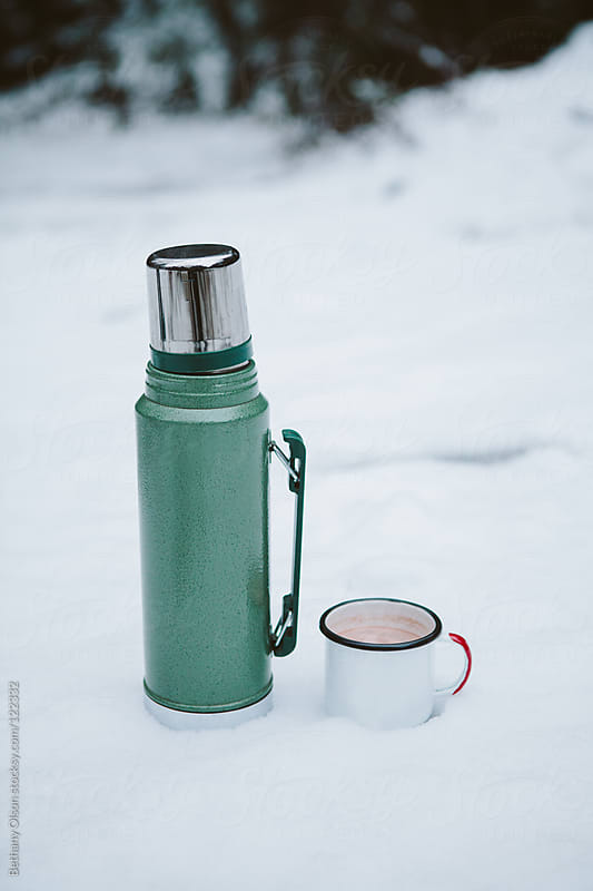 Thermos and Mug by Bethany Olson for Stocksy United