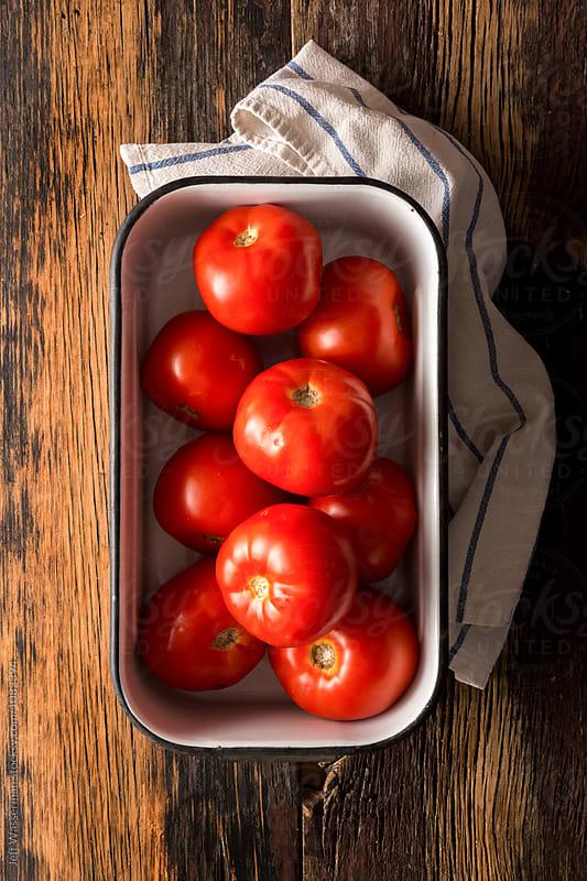 Raw Fresh Field Tomatoes  by Jeff Wasserman for Stocksy United