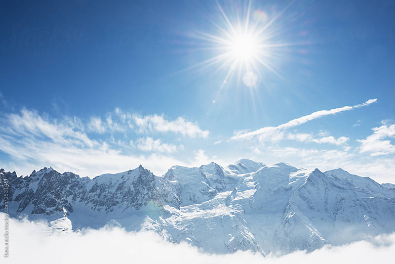 Winter sun in Mont Blanc Massif  by RG&B Images for Stocksy United