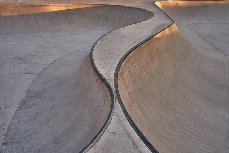 Skate park at sunrise by Guille Faingold for Stocksy United