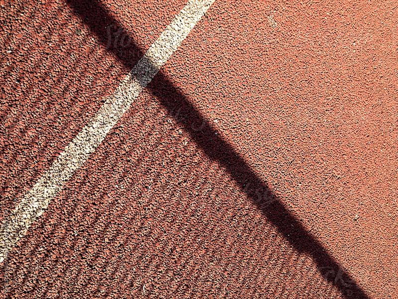 Lines on tennis court by Bisual Studio for Stocksy United