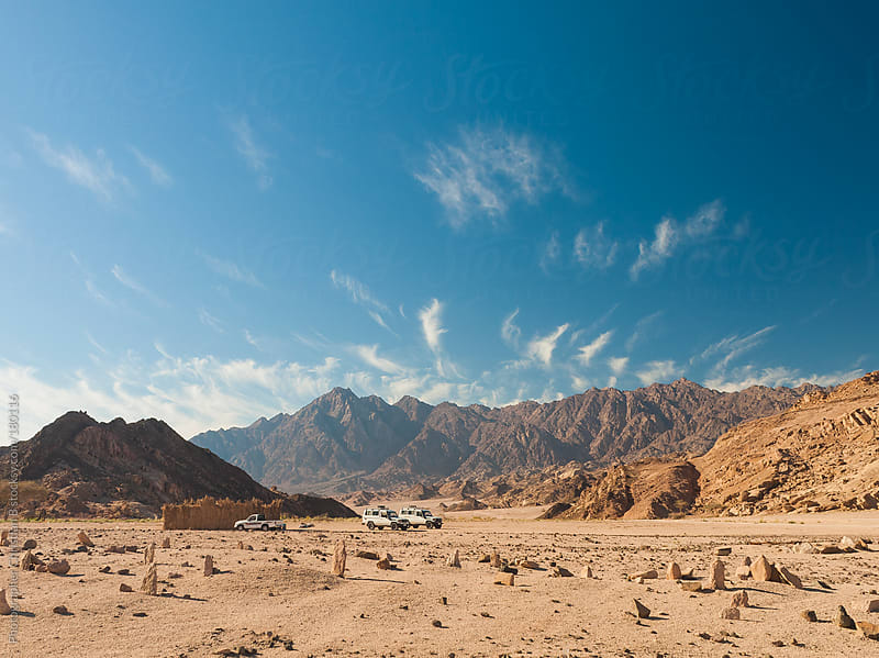 Sinai Peninsula, EgyptDesserts jeeping by Photographer Christian B for Stocksy United