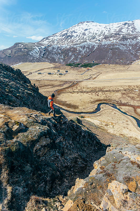Hiking in Iceland by Soren Egeberg for Stocksy United