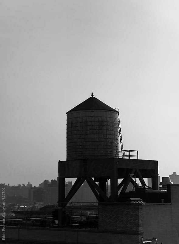 Water tower in Manhattan by Eddie Pearson for Stocksy United
