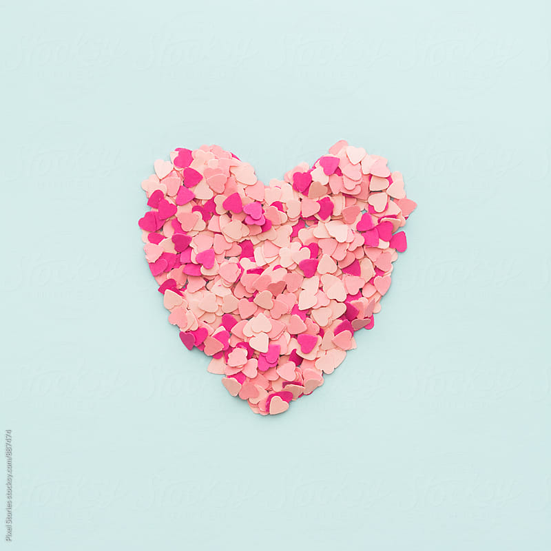 Confetti heart by Pixel Stories for Stocksy United
