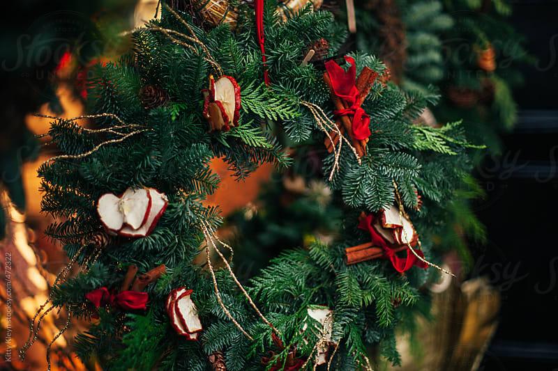 Christmas wreath by Kitty Kleyn for Stocksy United