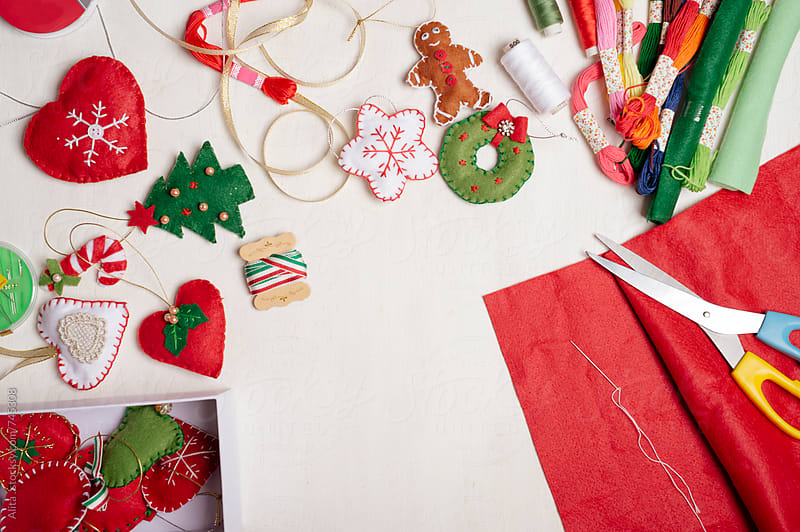 DIY Christmas ornaments by Alita Ong for Stocksy United