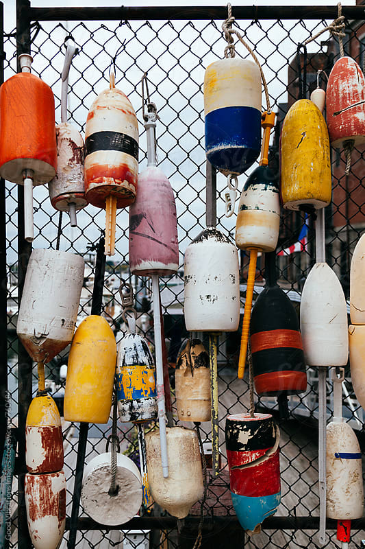 Buoys at the port by Good Vibrations Images for Stocksy United
