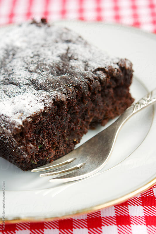Zucchini brownie by Harald Walker for Stocksy United