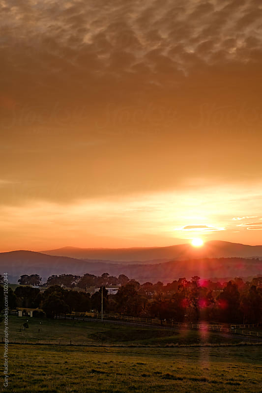 Sunrise over Kangaroo Ground, Victoria by Gary Radler Photography for Stocksy United