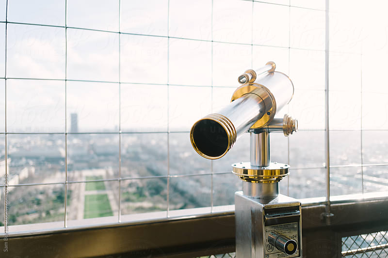 Telescope on the Eiffel Tower by Sam Burton for Stocksy United