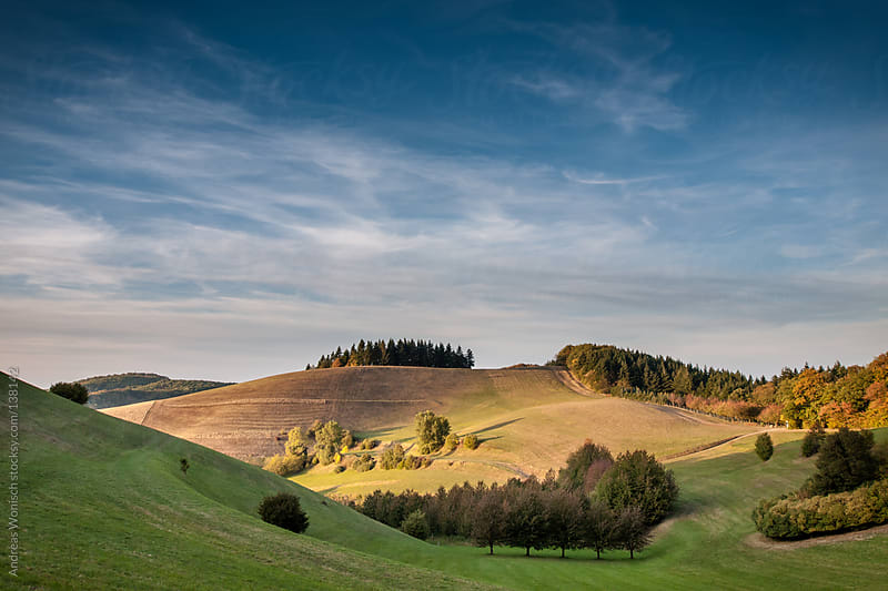 Autumn landscape with Hills by Andreas Wonisch for Stocksy United
