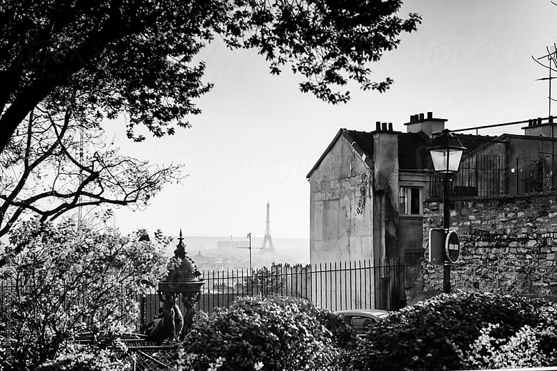 Eiffel Tower seen from Montmartre Hill by Ivan Bastien for Stocksy United