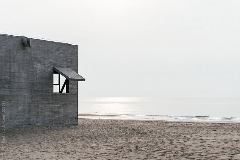 The exterior of a building along the seaside by MaaHoo Studio for Stocksy United