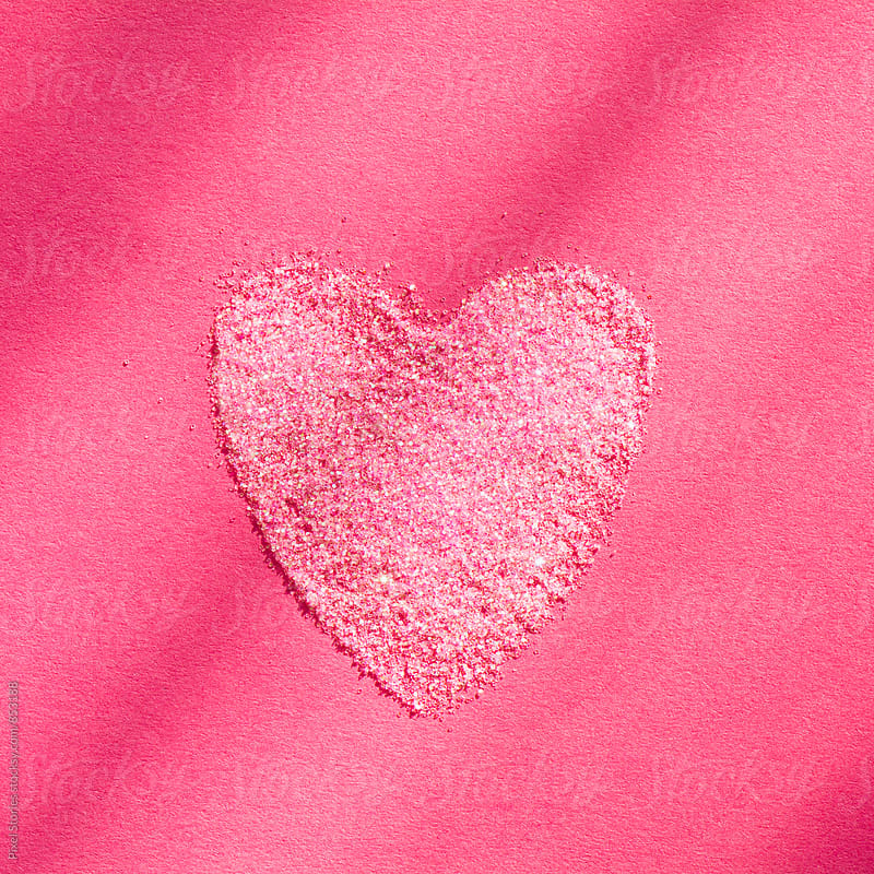 Pink glitter heart by Pixel Stories for Stocksy United