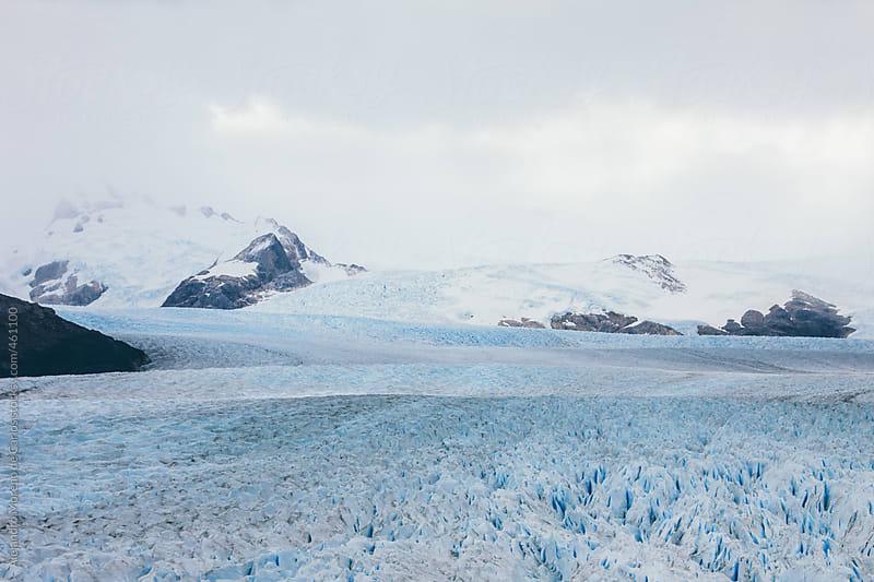 Ice glacier and mountain scenic view. Perito Moreno glacier, Argentina, Patagonia by Alejandro Moreno de Carlos for Stocksy United
