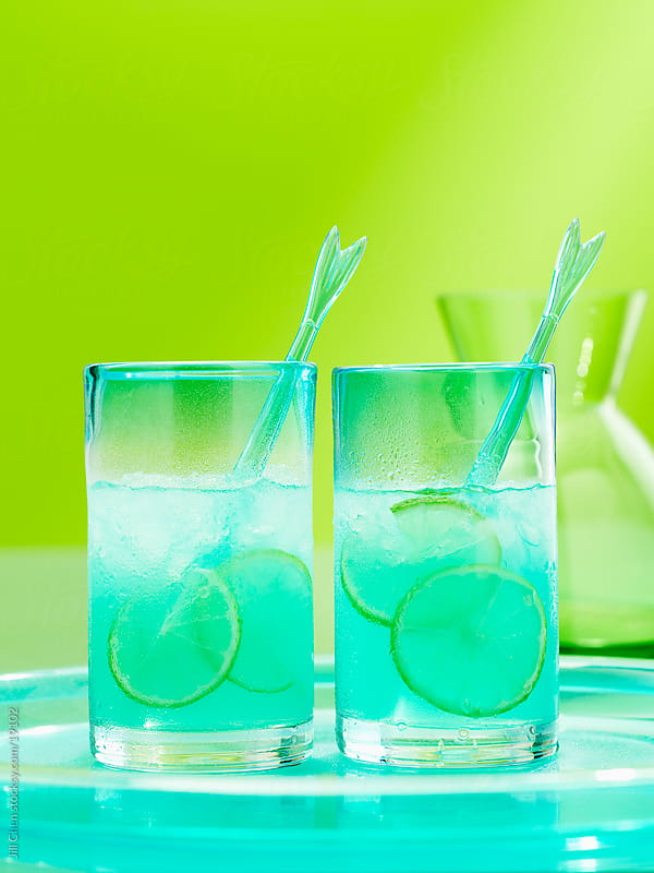 Blue Cocktails by Jill Chen for Stocksy United