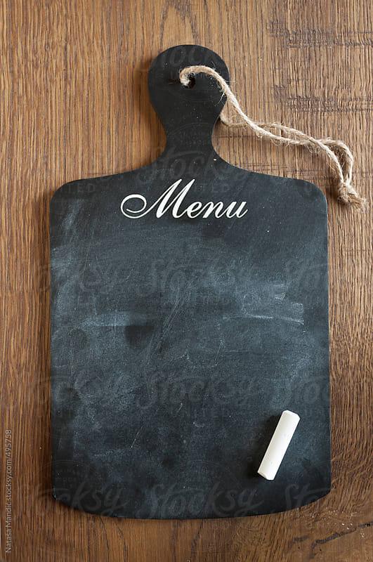 Chalkboard for writing menu by Nataša Mandić for Stocksy United