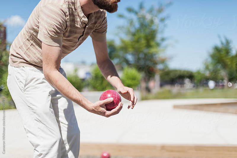 Bocce Ball Player by Cameron Whitman for Stocksy United