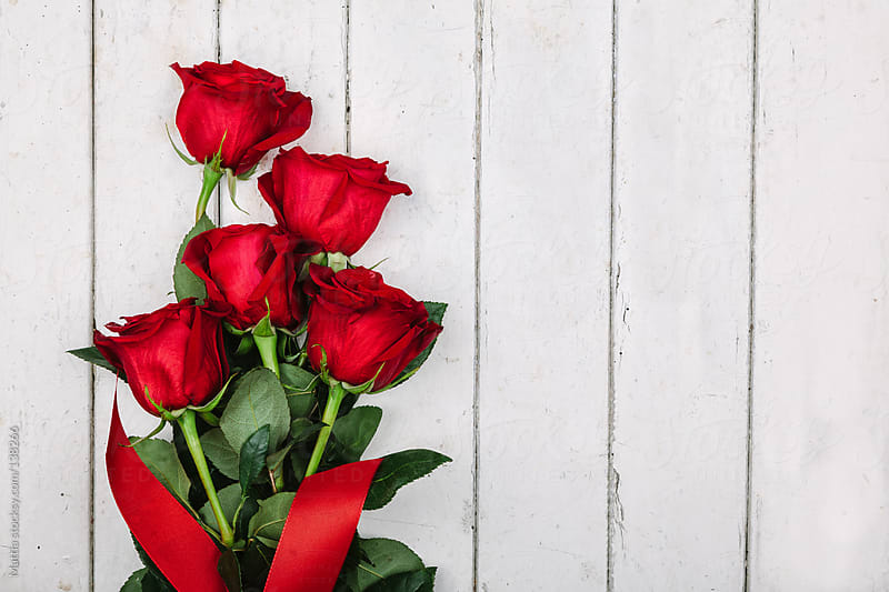 Decorated Red Rose Bouquet by HEX. for Stocksy United