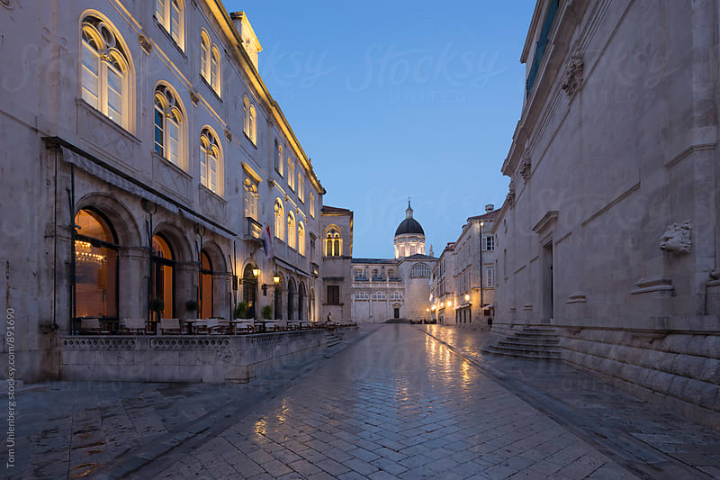 Dubrovnik, Croatia - Empty Street in the Old Town at Dawn by Tom Uhlenberg for Stocksy United