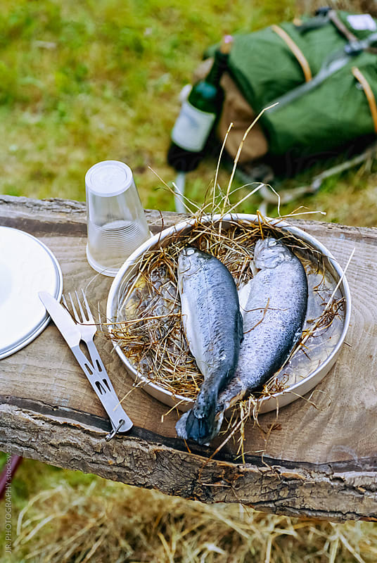 Food at the camping site by J.R. PHOTOGRAPHY for Stocksy United