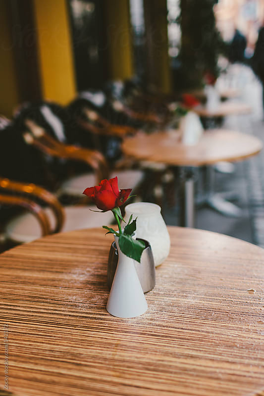 Sidewalk cafe by Zocky for Stocksy United