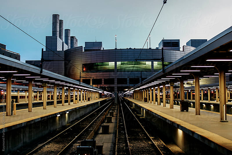 Train Station at Dusk by Raymond Forbes LLC for Stocksy United