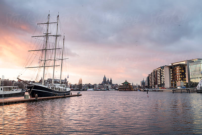 Amsterdam in winter by Susan Brooks-Dammann for Stocksy United
