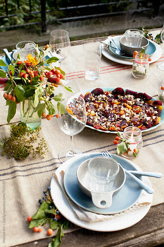 Thanksgiving Feast by Mental Art + Design for Stocksy United