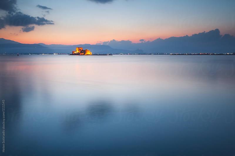 Bourtzi Castle in Nafplio, Greece by Helen Sotiriadis for Stocksy United