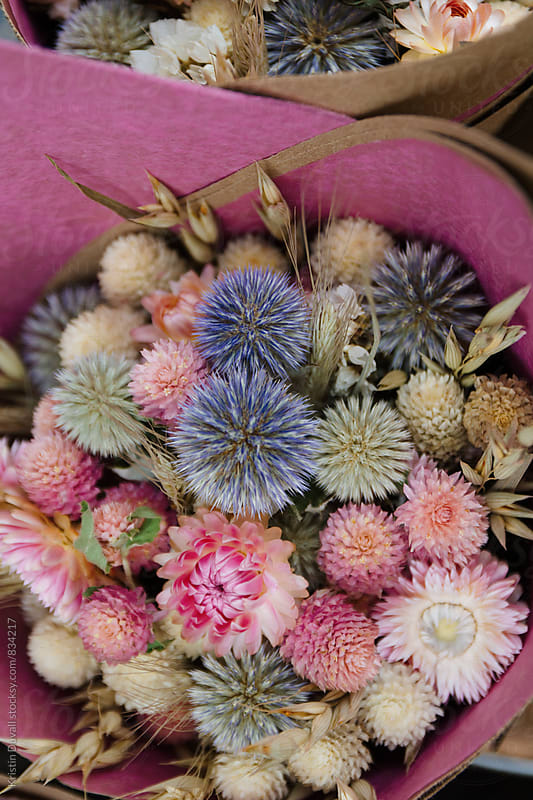 Dried flower bouquet by Kristin Duvall for Stocksy United