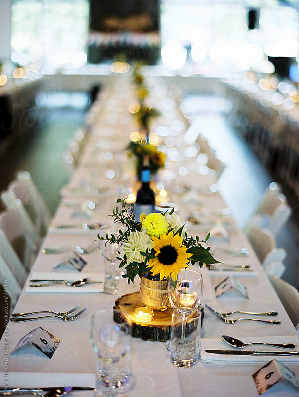 wedding table by Kirill Bordon photography for Stocksy United