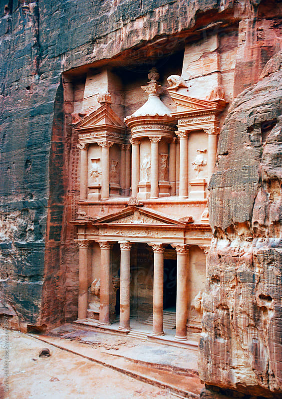 The Treasury Al-Khazneh, Petra, UNESCO World Heritage Site, Wadi Musa Mousa, Jordan, Middle East by Gavin Hellier for Stocksy United