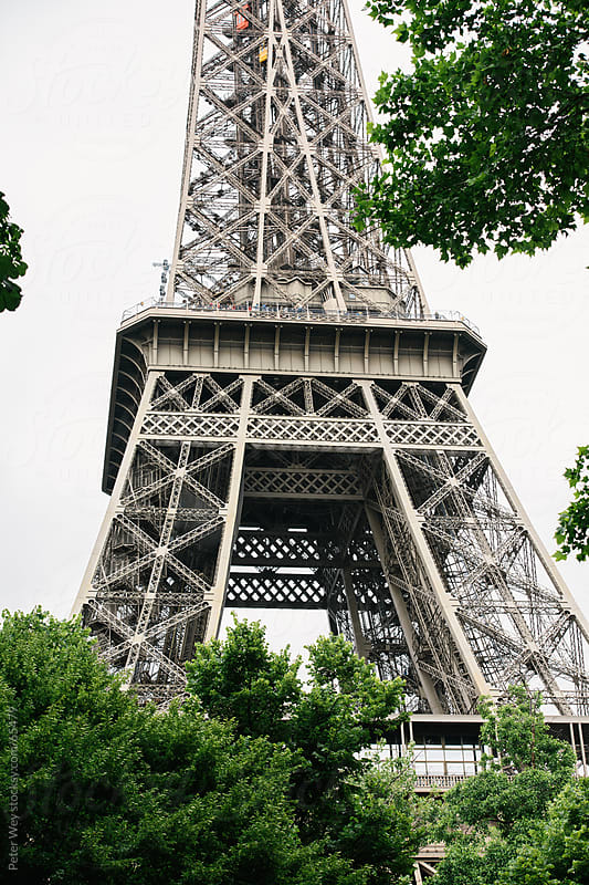 Closeup of Eiffel Tower in Paris by Peter Wey for Stocksy United