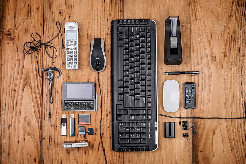 A collection of workplace equipment and tools by suzanne clements for Stocksy United