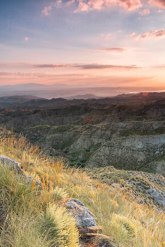 Beautiful badlands landscape at sunrise by Marilar Irastorza for Stocksy United