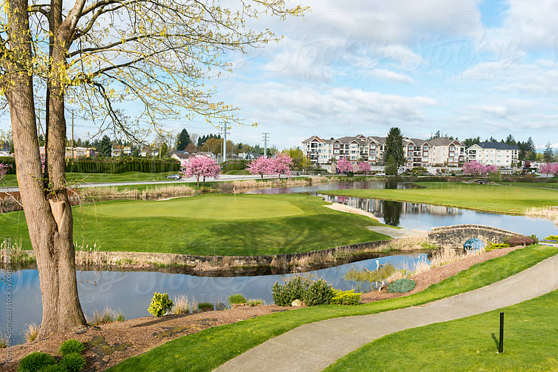 Golf Course In Spring by Ronnie Comeau for Stocksy United